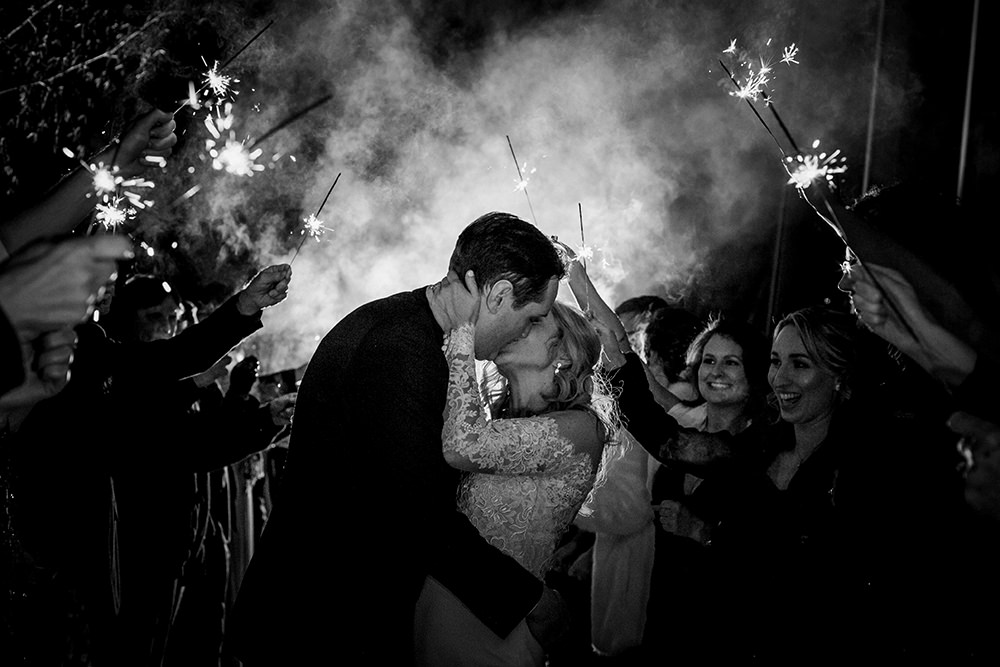 Qualico family Centre Wedding Sparklers