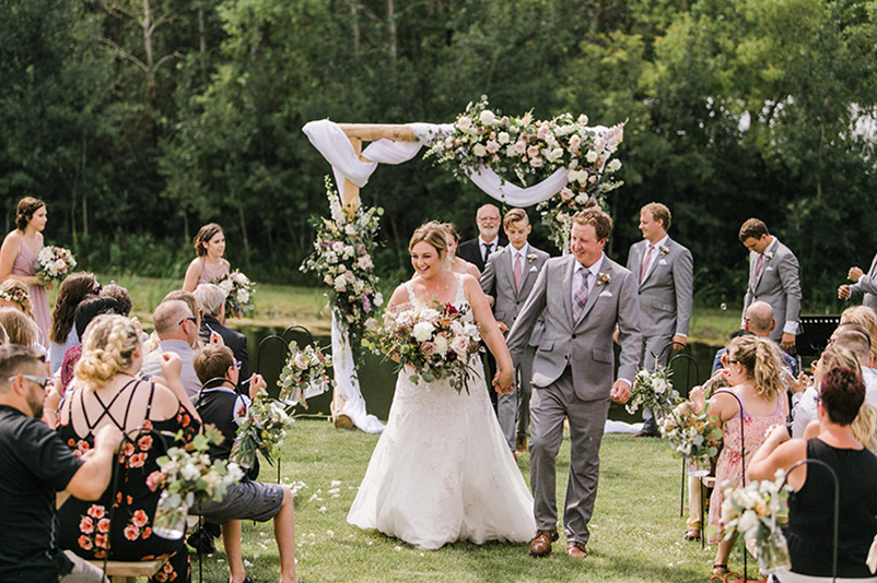 Intimate nature setting for outdoor ceremony Whitetail Meadow