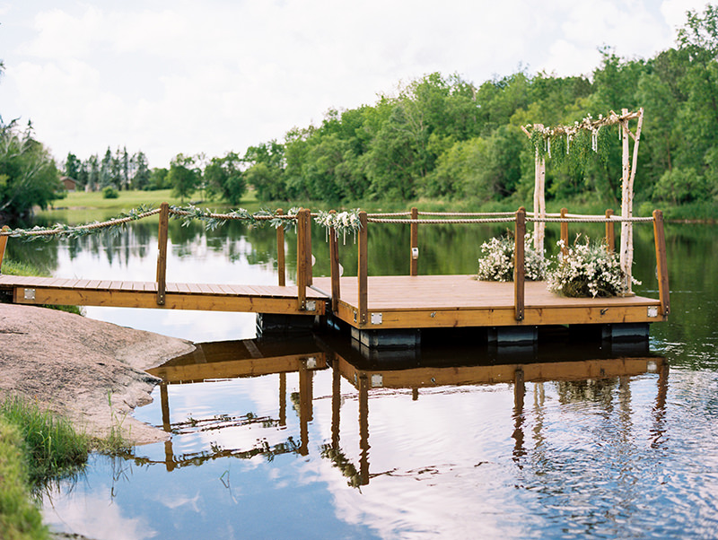 The amazing Floating Ceremony Dock at  Rivers Edge Resort.