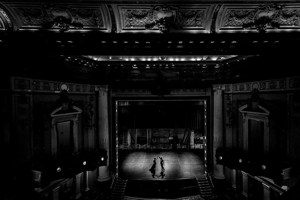 Pantages Theatre made the perfect venue for these Pre Wedding Photos by Tony