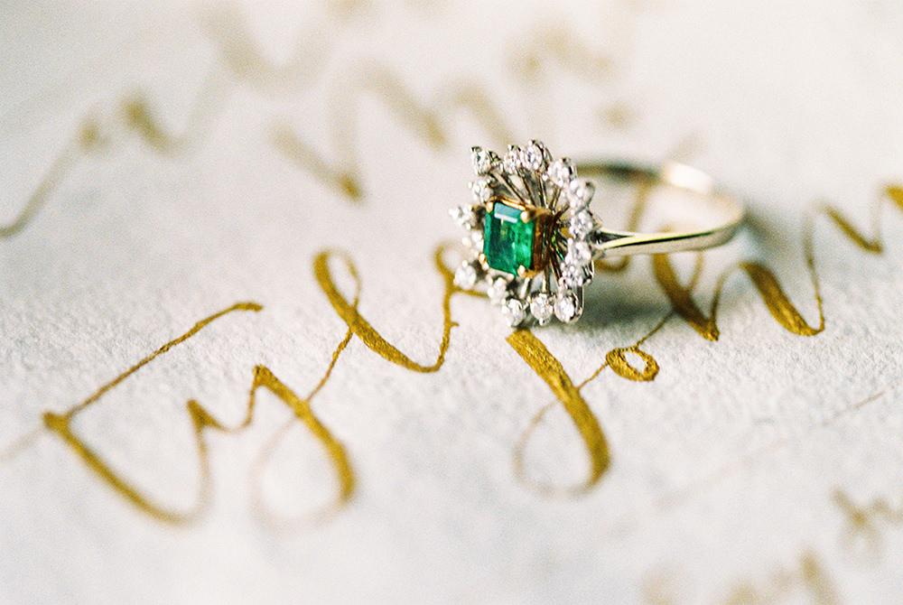 Vintage old world wedding ring