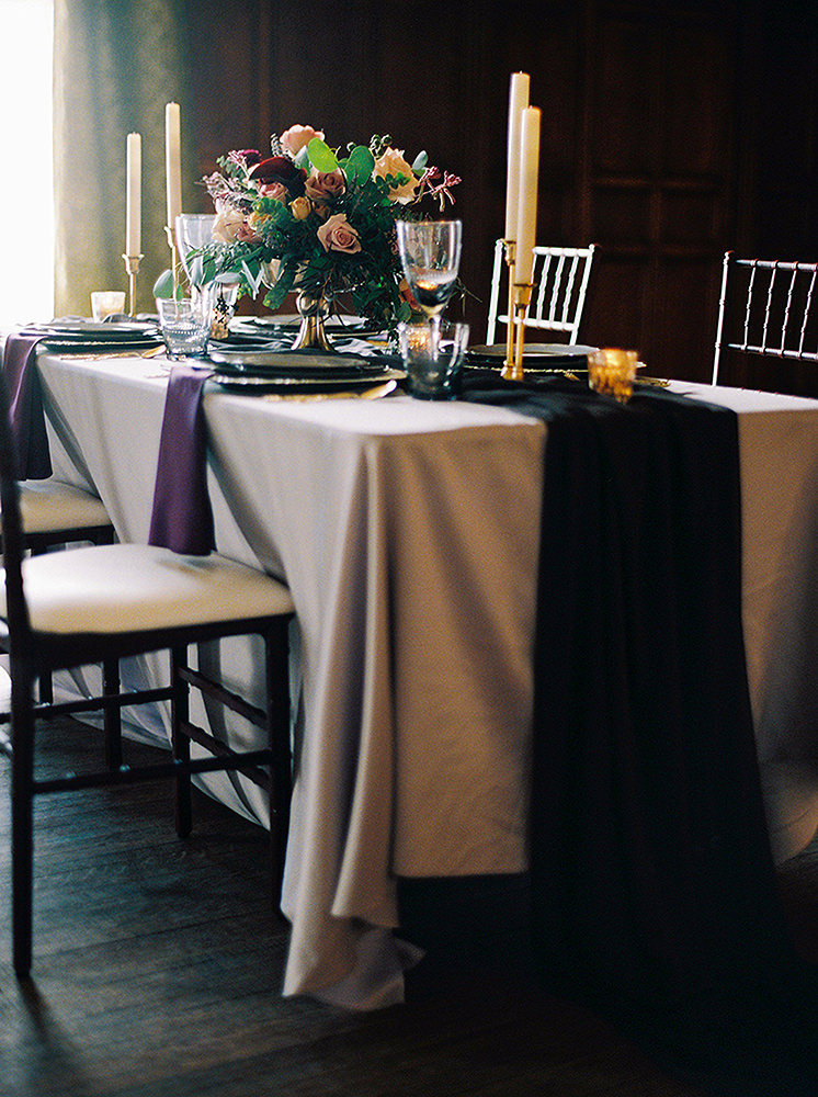 Beautifully styled intimate wedding setting by Inspired Elegance