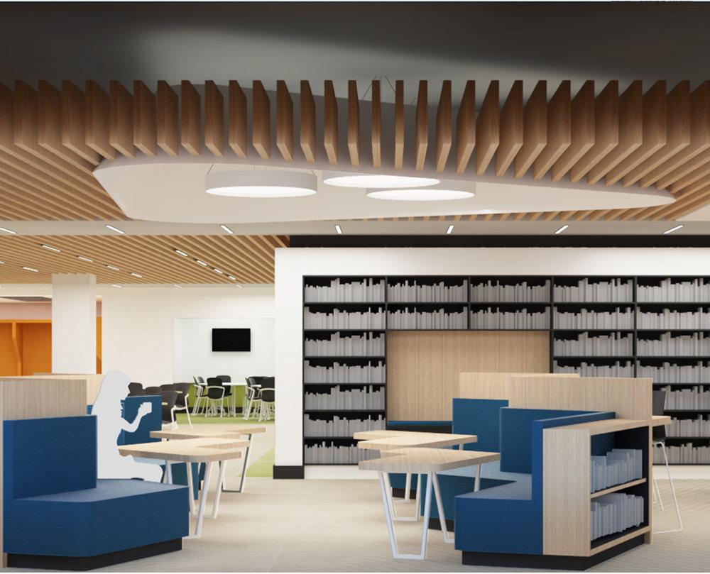 Cooperman Library;  phase III, fifth floor renovations