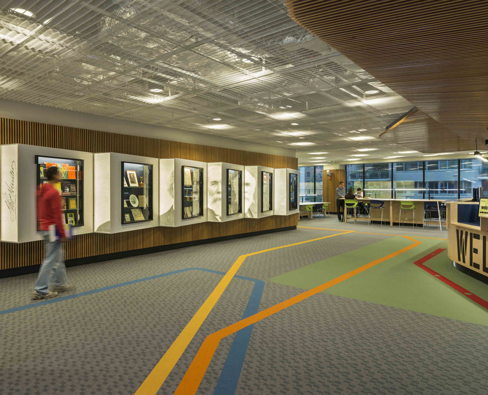 Cooperman Library;   phase I, third floor renovations