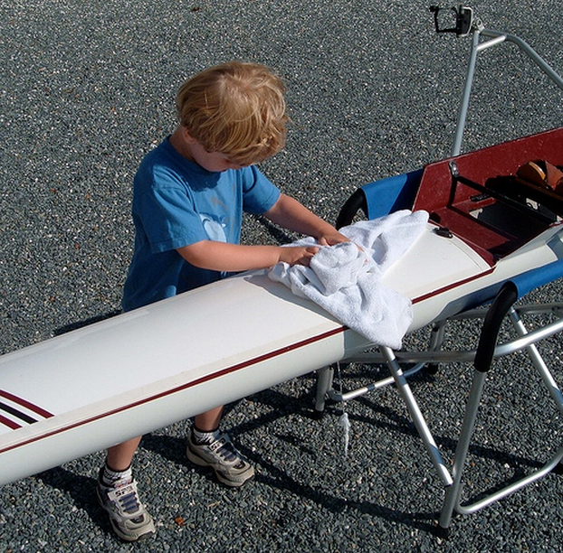 01-05-13 - Ben cleaning rowing shell.jpg