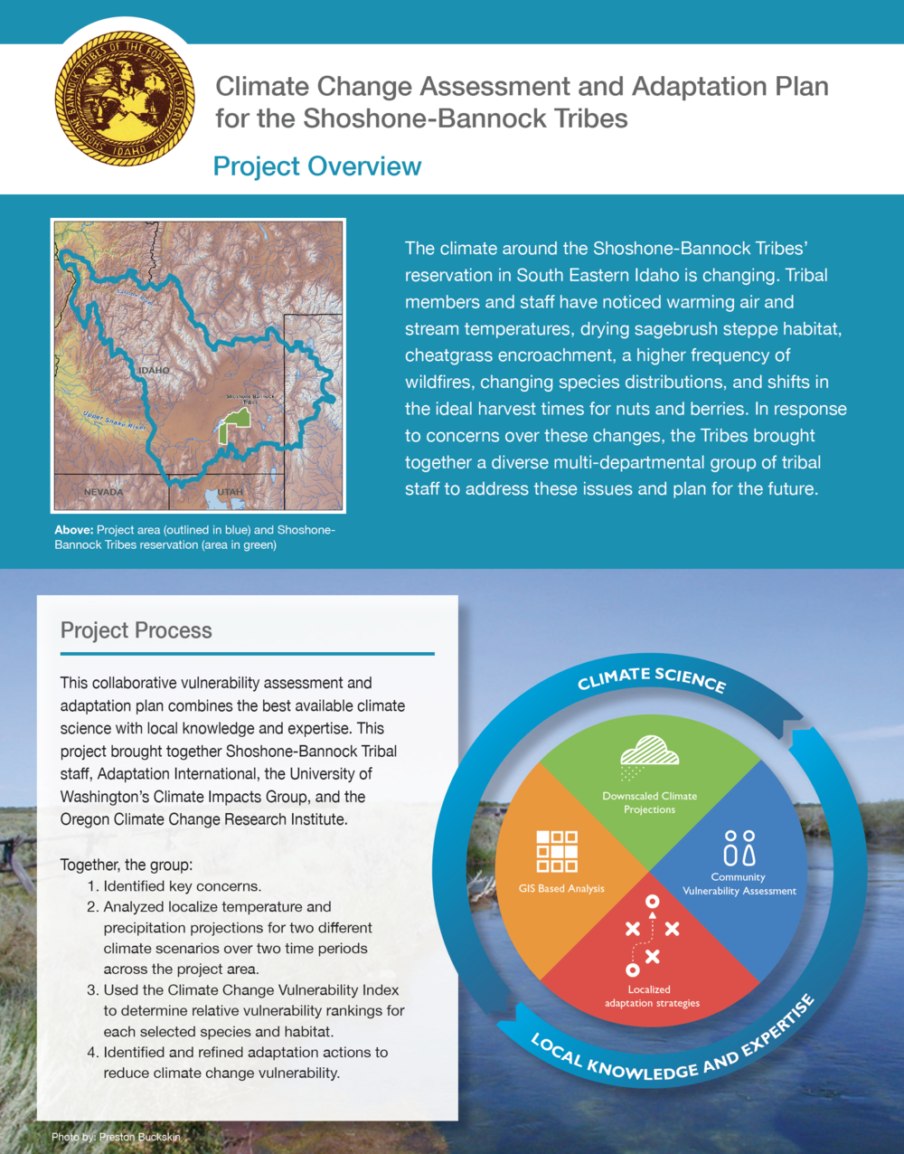 Shoshone-Bannock Climate Adaptation Project Overview. This is one of a series of fact sheets designed to highlight the project and vulnerability and adaptation options for key species of concern