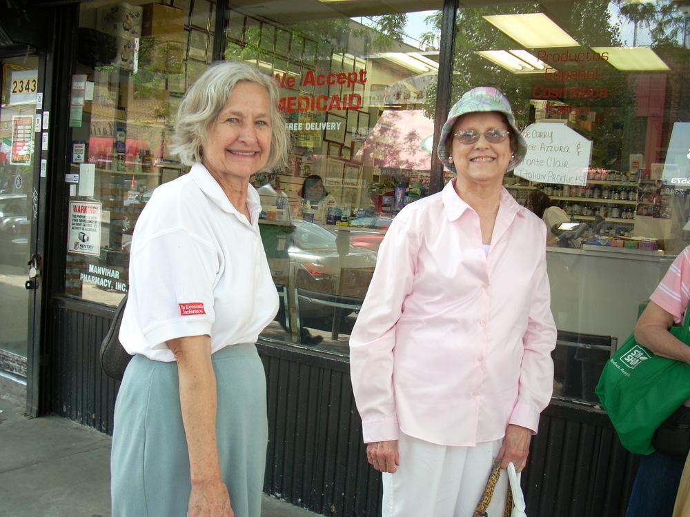 Arthur Avenue Shopping June 25 2010 Birgitta Sherman & Kitty Sabol.jpg