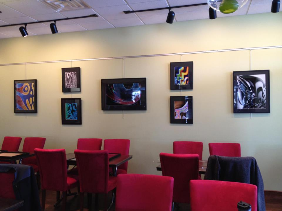 My art from Artwork Evolution at Lovin' Cup in Rochester, NY - February/March 2012