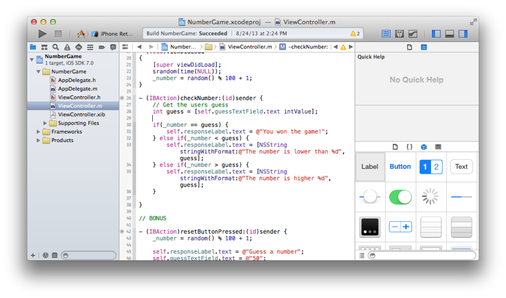 Learn how to use Xcode 5 to make iPhone apps for iOS 7.0