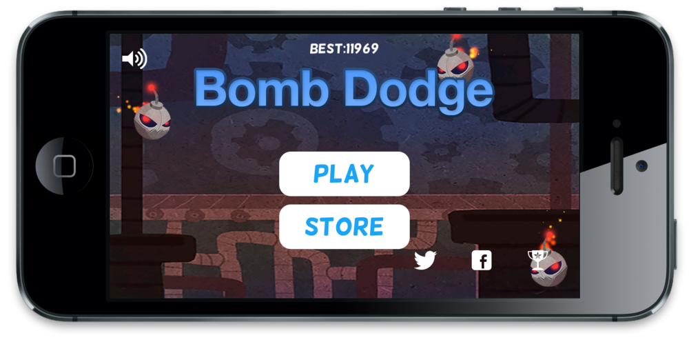 Using Auto Layout to center and match button widths for Bomb Dodge.