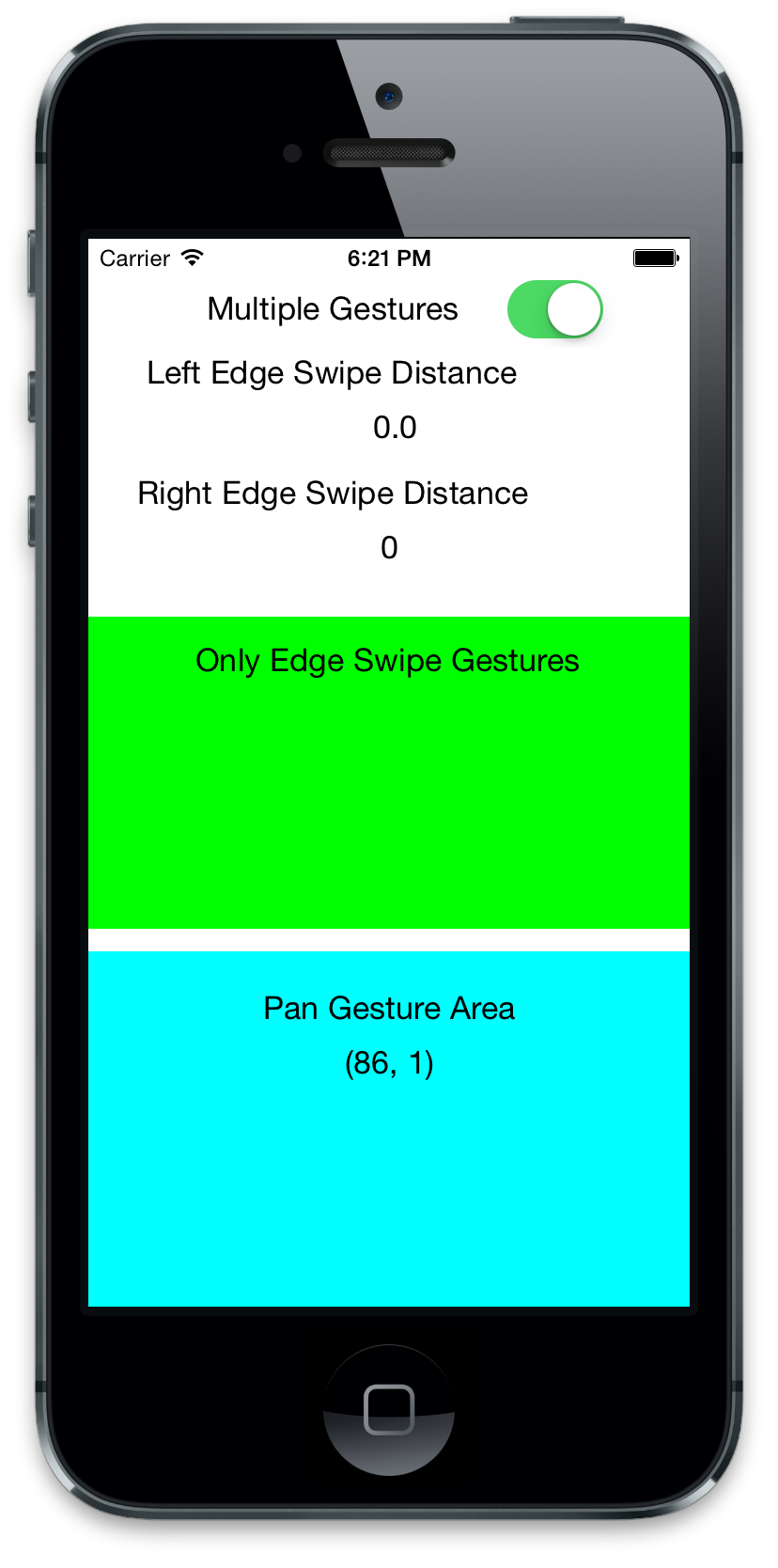 UIScreenEdge Gesture Recognizer for iPhone Side Swipe Detection