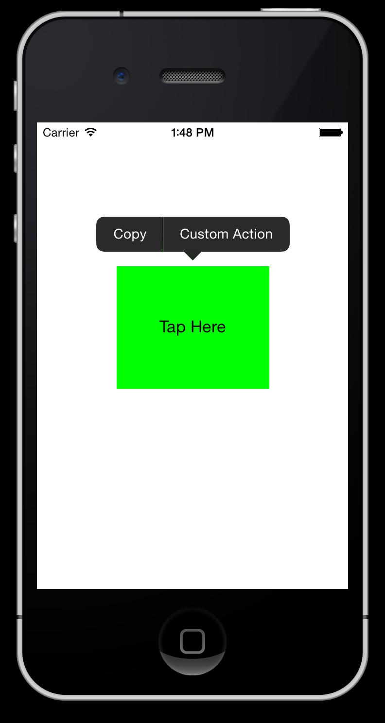 Show the UIMenuController and Display Custom Edit Menus for