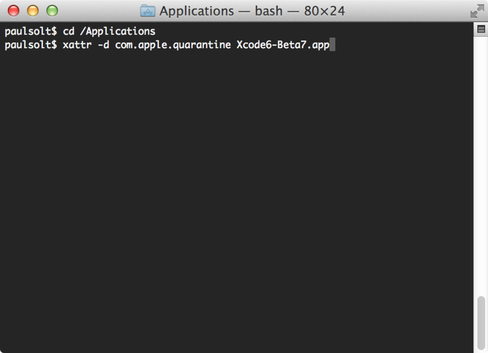 The Terminal app on Mac. It's an amazing command line tool.