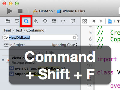 Search for text or symbols in your Xcode project