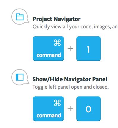 Xcode 6 Keyboard Shortcuts
