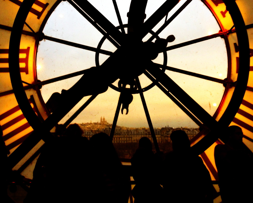 "Clock tower in Musée d'Orsay, Paris, France. ©ChloëRain January 6th, 2013  ""It's over. One way or another, everything comes to an end. It's all over some day. That's perhaps one of the most fascinating truths we know about the entire universe. The stars die, the galaxies die, the planets die. And people die too.""  -  There are Things You Should Know,  Stieg Larsson  See his letter to his partner she found after is untimely death (at the bottom of the blog)."