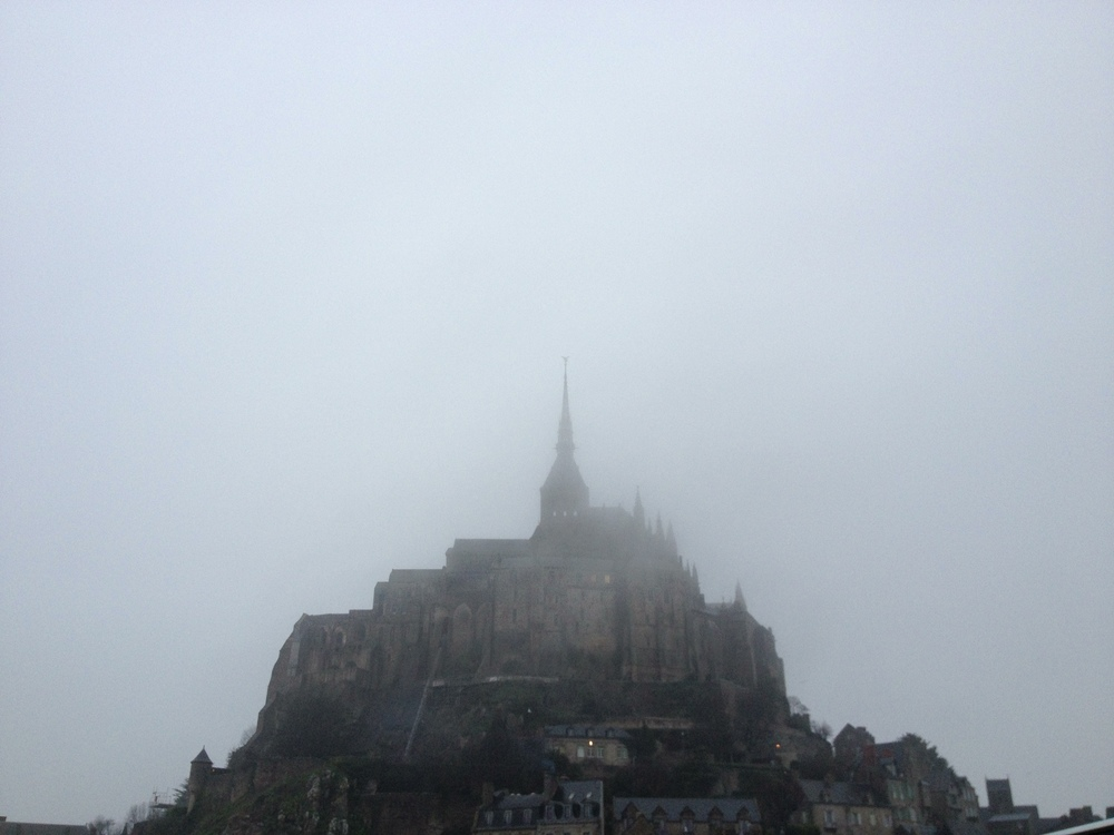Mont Saint Michele in the fog