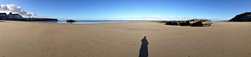 Solitary Beaches of Normandie, Arromanches-les-Bains, January 11th, 2013