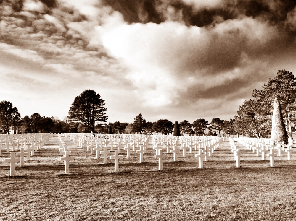 The Normandy American Cemetery covers 172.5 acres and contains the graves of 9,387 of our military dead, most of whom lost their lives in the D-Day landings and ensuing operations
