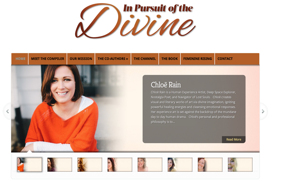 """Check out my chapter RISKING EVERYTHINGin the new anthology """"In Pursuit of the Divine"""""""