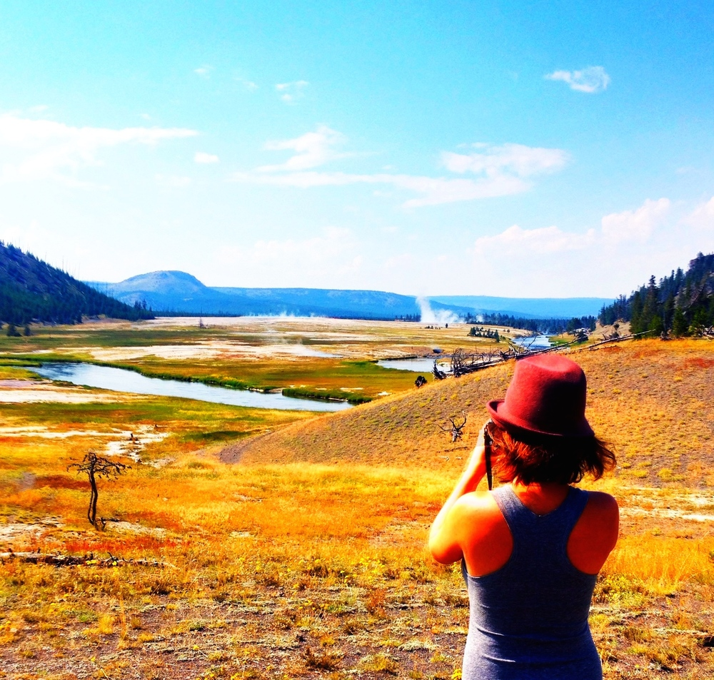 near the Artist Paint Pots, landscape Yellowstone National Park August 9th, 2014
