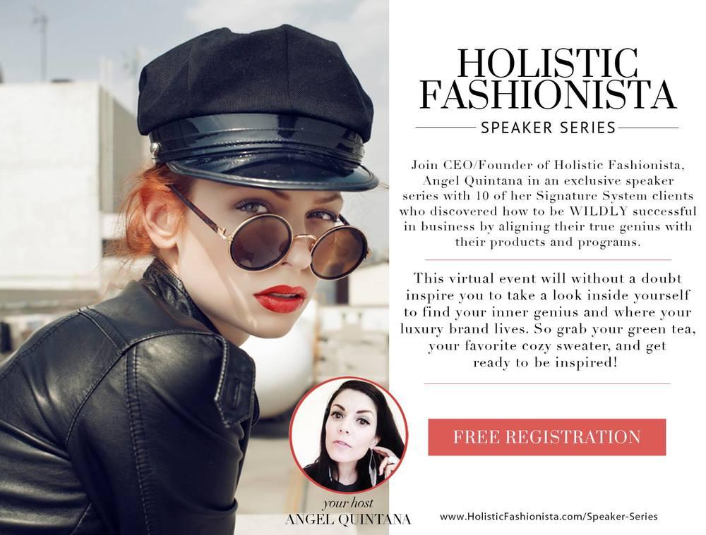 Holistic Fashionista Speaker Series Angel Quintana