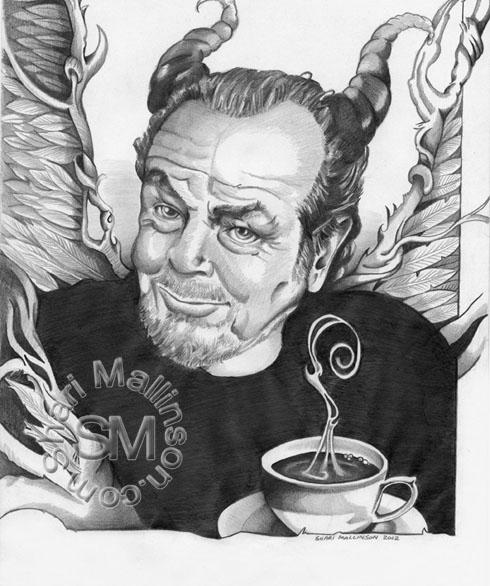 JACK NICHOLSON. L'IL COFFEE DEVIL