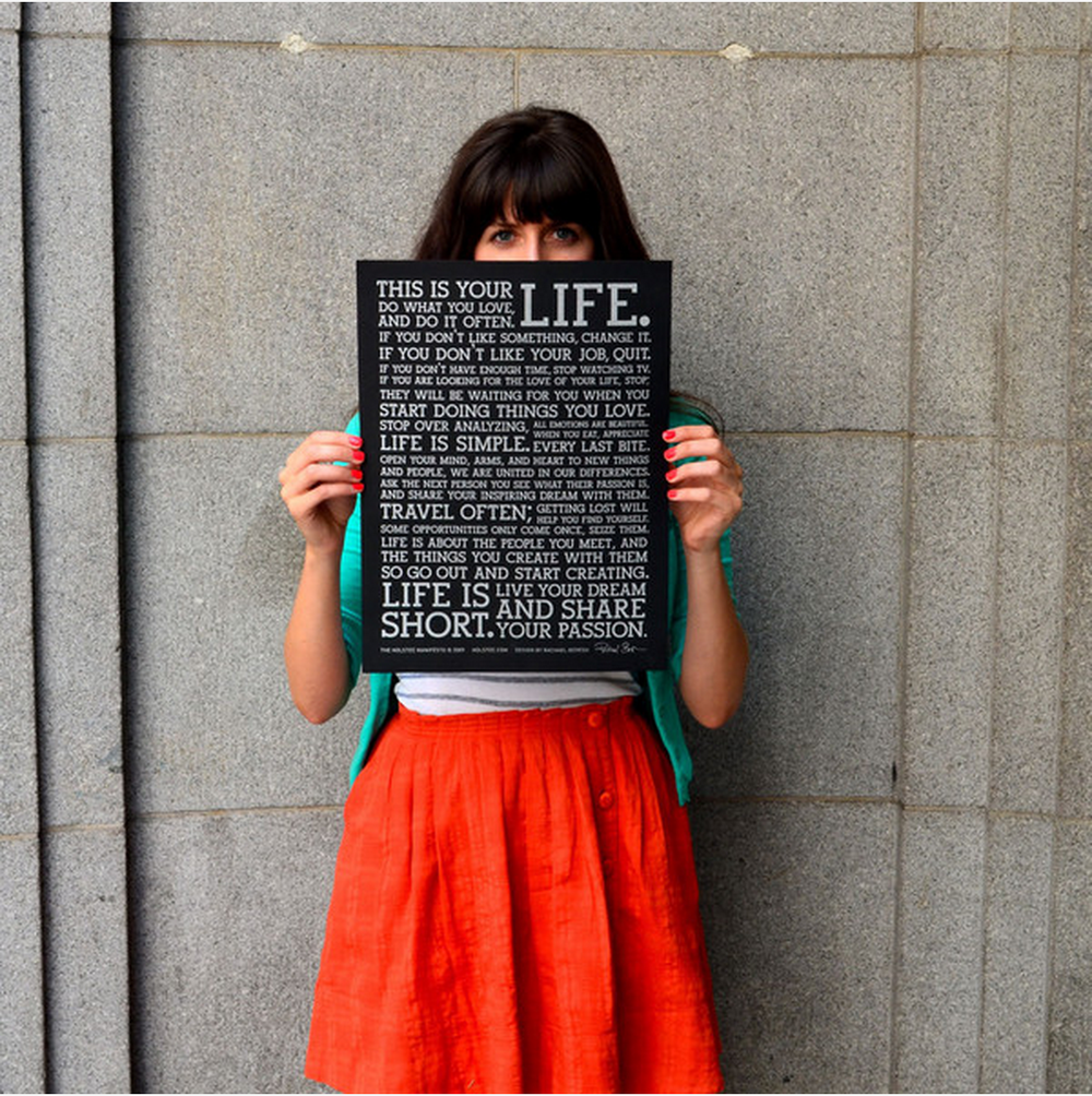 holstee manifesto explore deeply