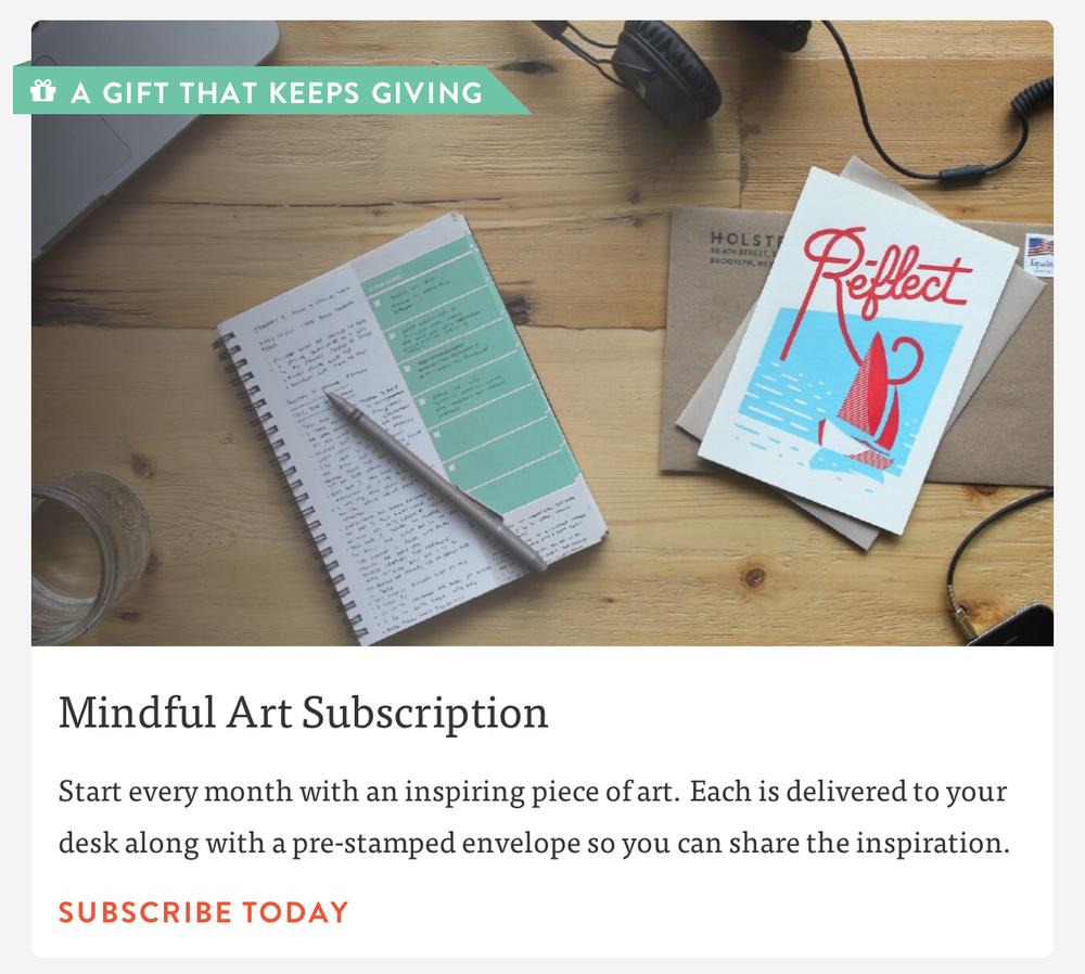 mindful art subscription holstee