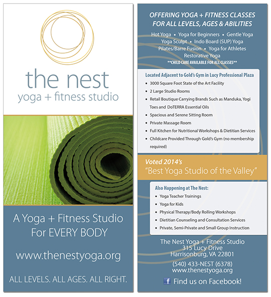 the nest yoga studio harrisonburg virginia
