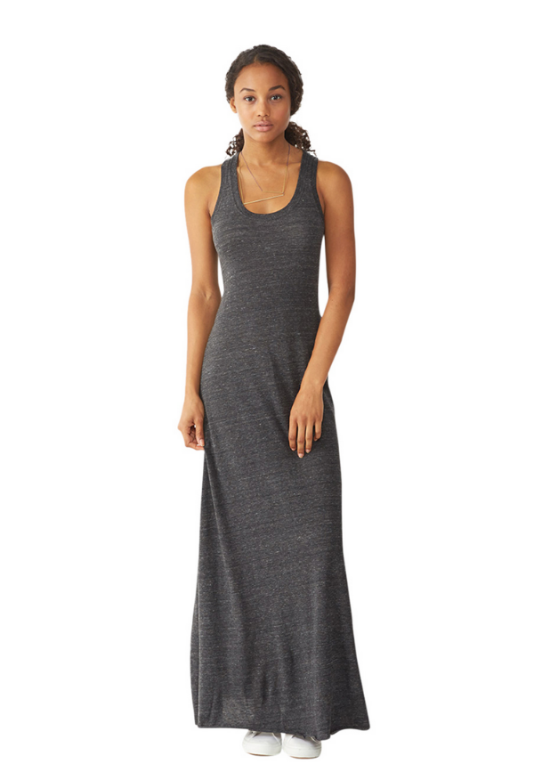 Racerback Eco-Jersey Maxi Dress  $68.00  Dress up or down in this flattering racerback maxi dress in soft Eco-Heather Jersey.   Shop Summer Sale