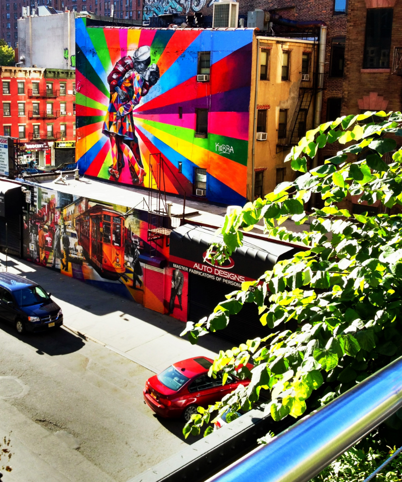 Picture taken from the High Line, New York City.   ©ChloeRain