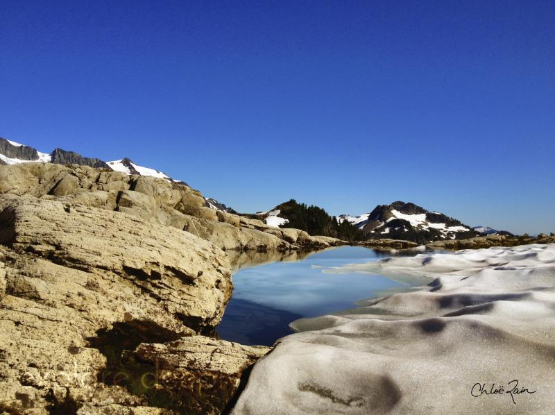 explore deeply chloe rain Mt Baker Reflections in Ice Water Pool