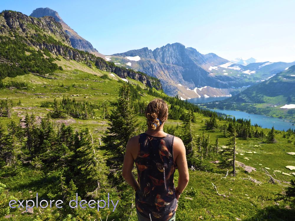 Logan's Pass : Glacier National Park