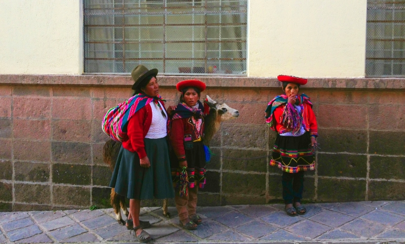 Traditional Women in the city of Cusco Peru