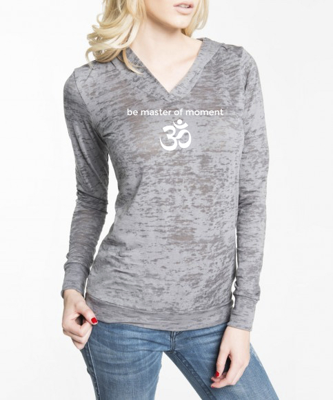 Be Master Of Moment OM Burnout Hoodie