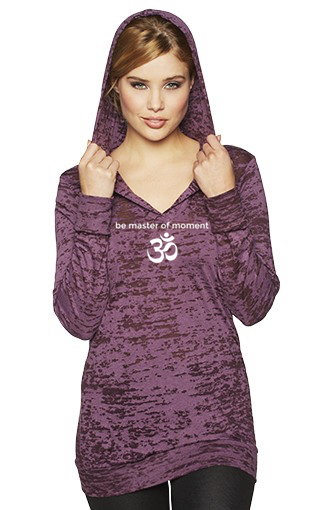 Be Master Of Moment OM Burnout Hoodie Plum