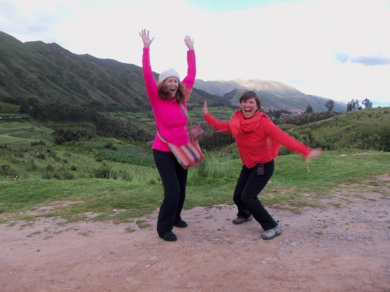 Literally jumping for joy in Peru! Join me here this fall.   Sacred journey to Cusco & Machu Picchu.