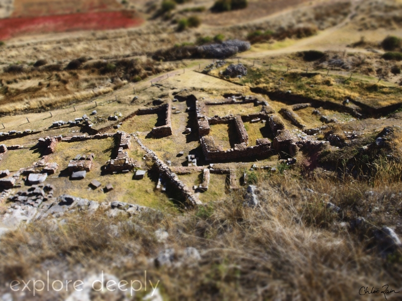 Archeological site below Temple of the Moon, Cuzco Peru