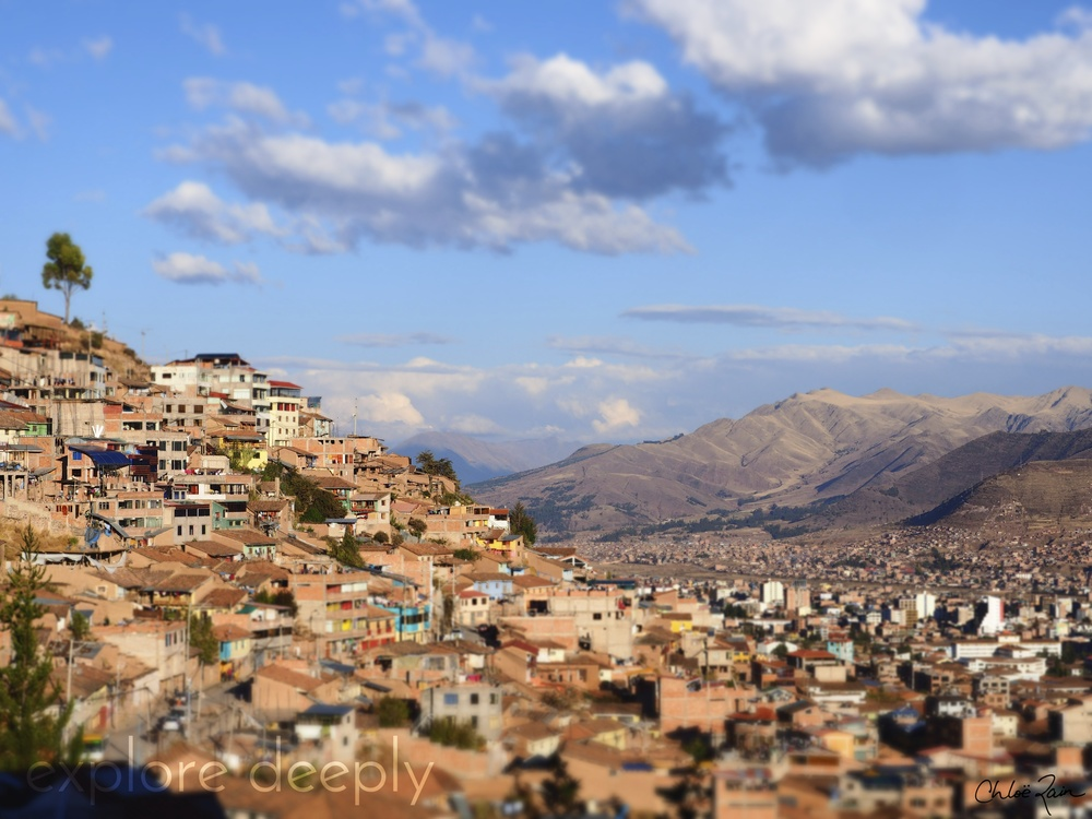 The view of the city of Cuzco on the walk down from the Moon Temple.