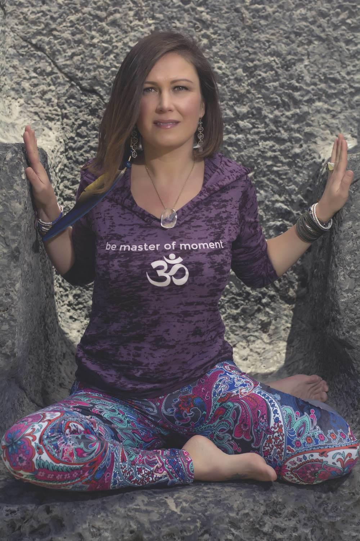 OM Yoga Burnout Hoodie