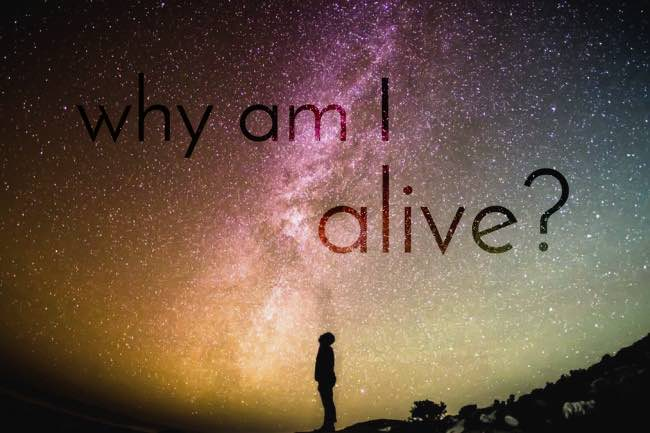why am I alive? to explore deeply your reason for existence