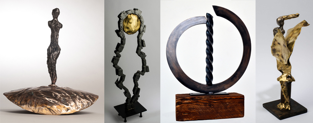 Renee Leverty is a sculptor who works primarily with metal. She uses a torch or arc welder as she sculpts brass and steel.