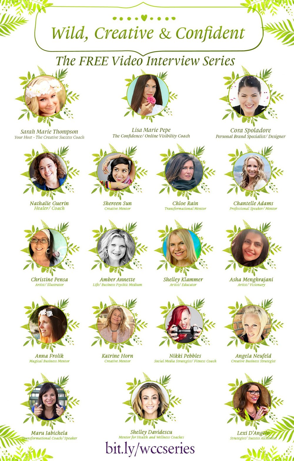 Join myself and 17 other inspiring women talk about creativity, inspiration and building a dream business. It's FREE! May 2016 bit.ly/wccseries