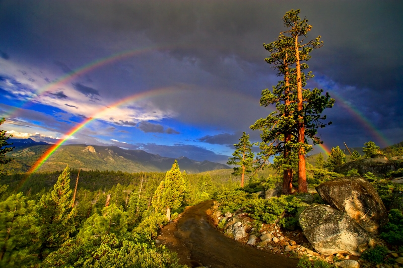 Yosemite Park, Double Rainbow