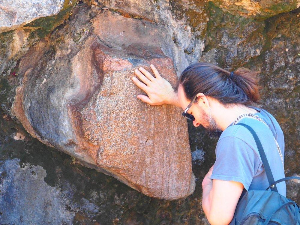 Heart Rock of Pachamam, Monkey's Temple Cusco Peru