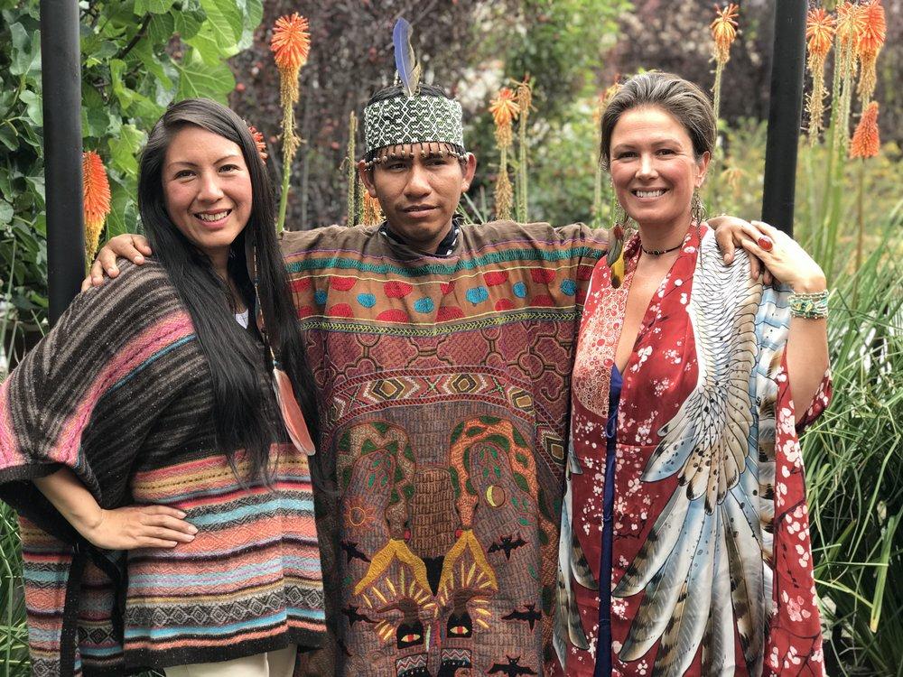 Q'orianka Gallegos Inca High Priestess, Maestro Juan Carlos Shipibo Curandero, Chloë Rain Founder Explore Deeply