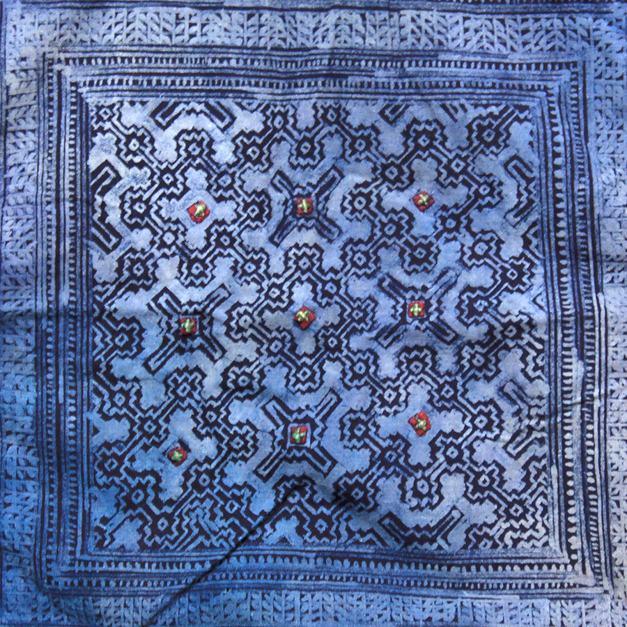 Hand printed Hmong cloth, Vietman