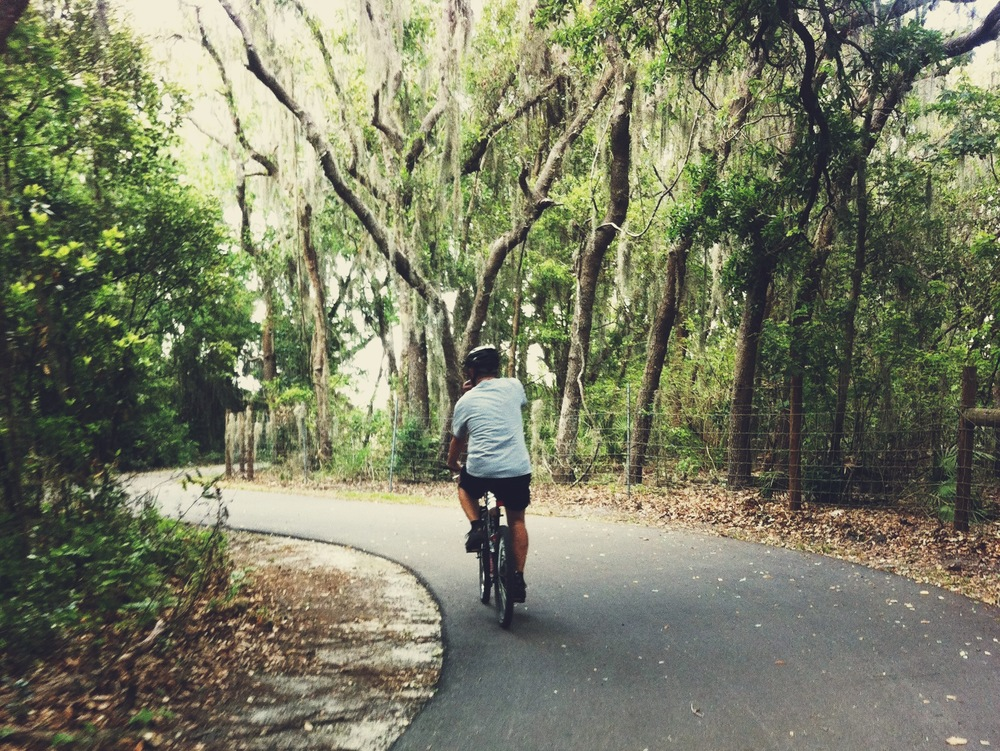 riding the bike trails with dad