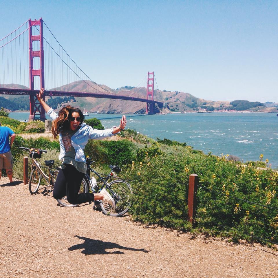 biked the golden gate bridge!